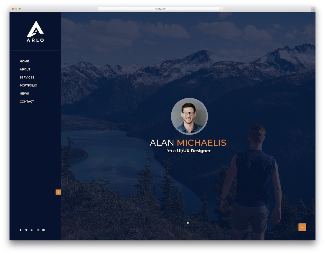 arlo professional website template