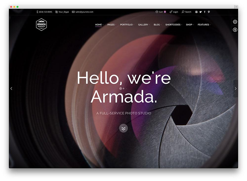 armada fullscreen portfolio theme