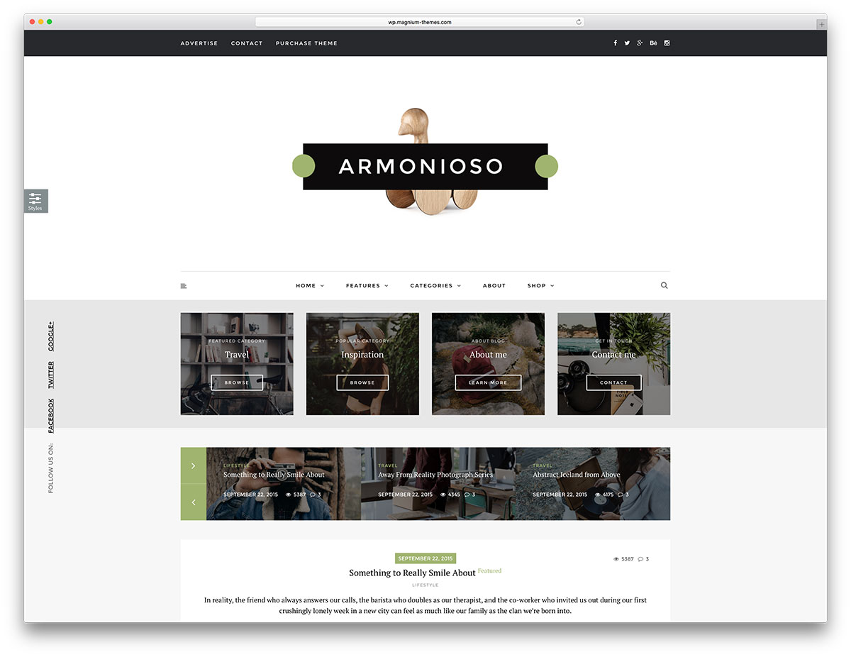 armonioso-minimal-blog-website-template