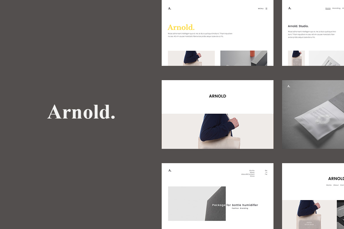 50 best personal portfolio wordpress themes 2018 colorlib arnold is a premium minimalistic portfolio wordpress theme it is orientated to creative persons and agencies marketing agency design agency illustrators maxwellsz