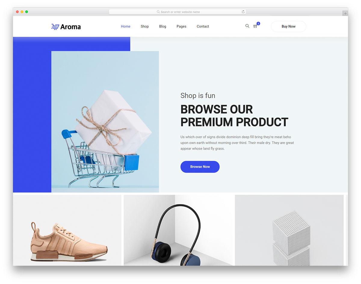 Скачать бесплатно html шаблон Aroma