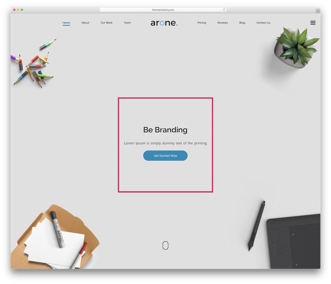 arone business website template