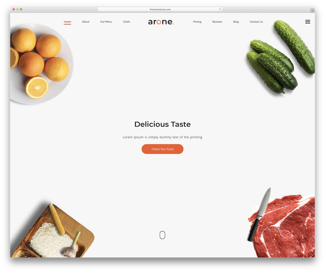 arone clean website template
