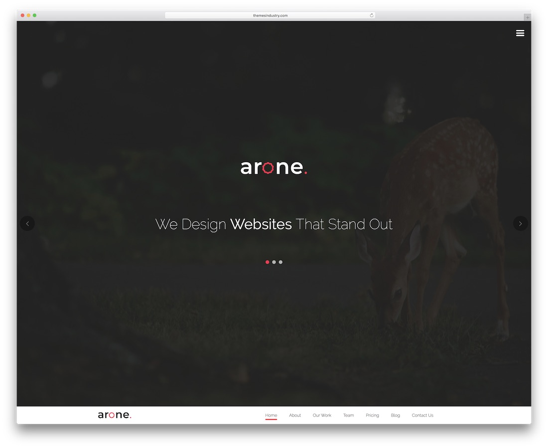 arone creative website template