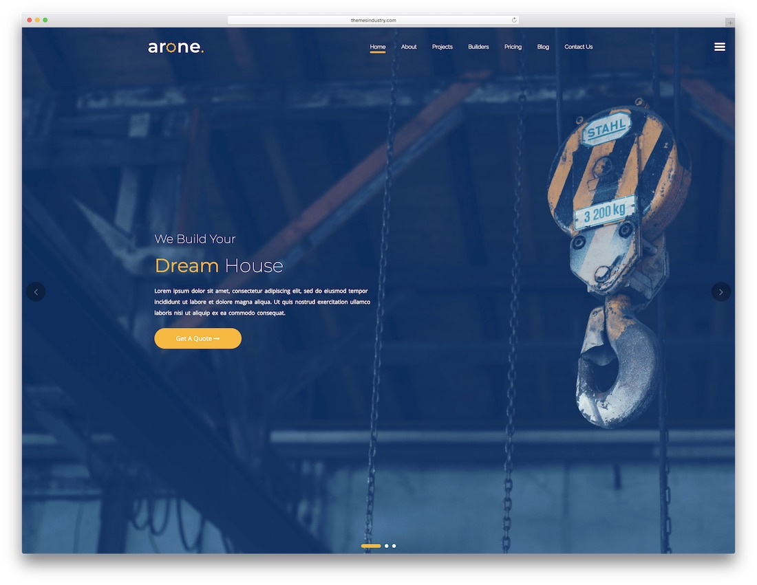 arone fullscreen website template