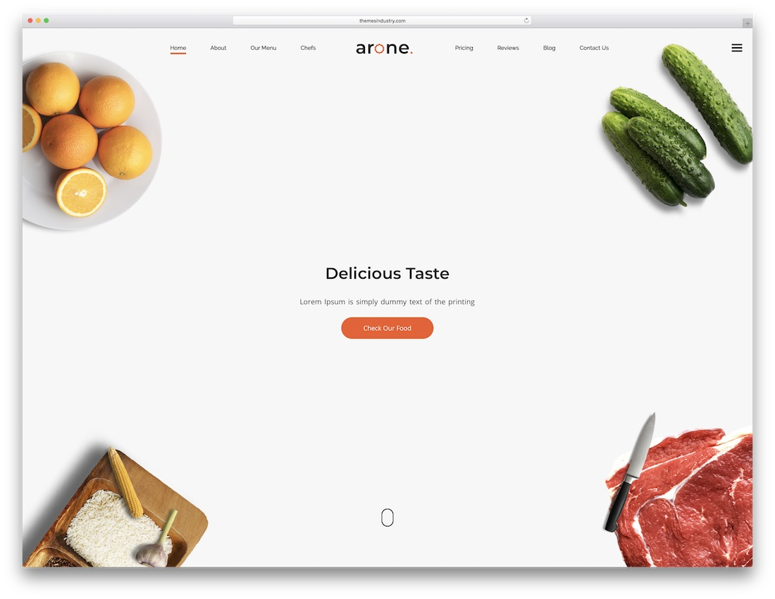 arone html5 one page website template