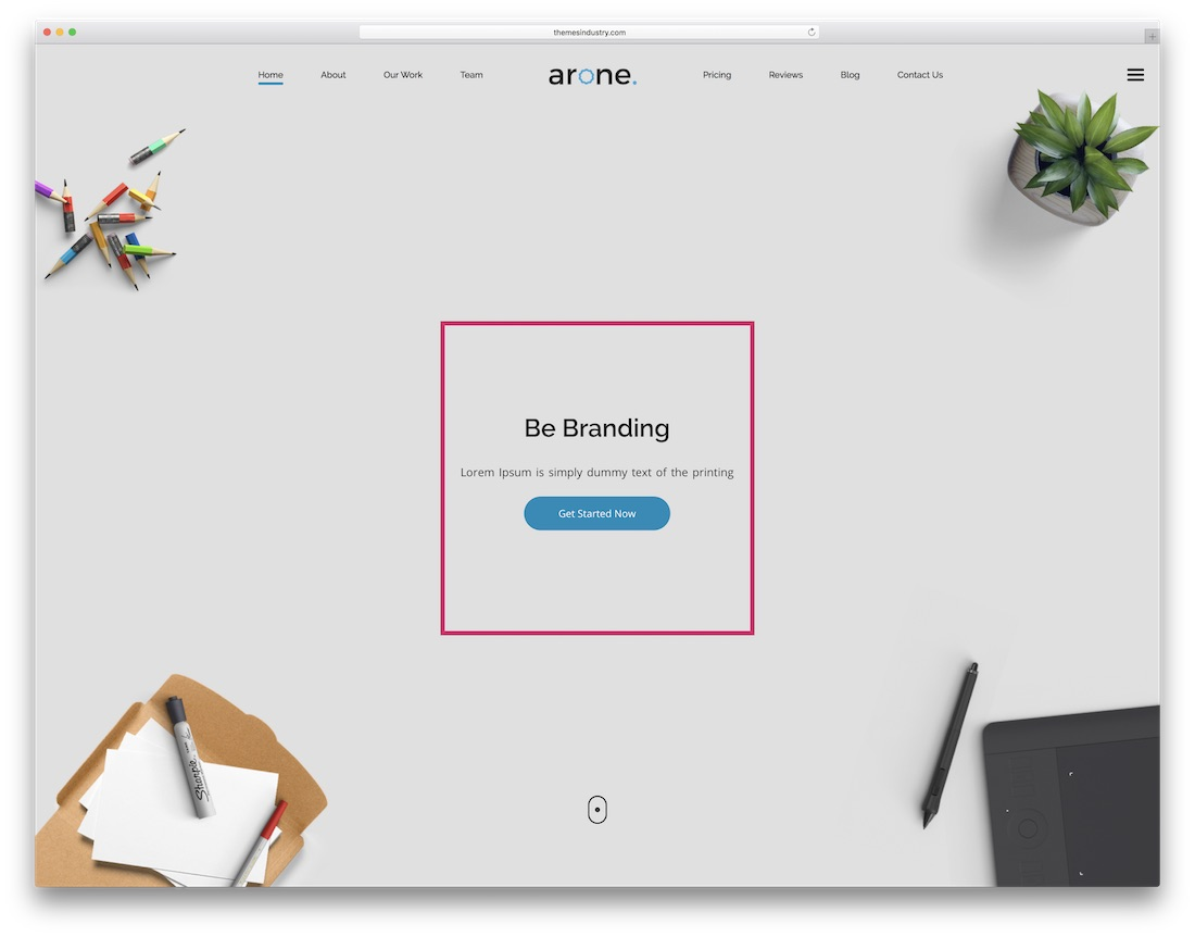 arone mobile friendly website template