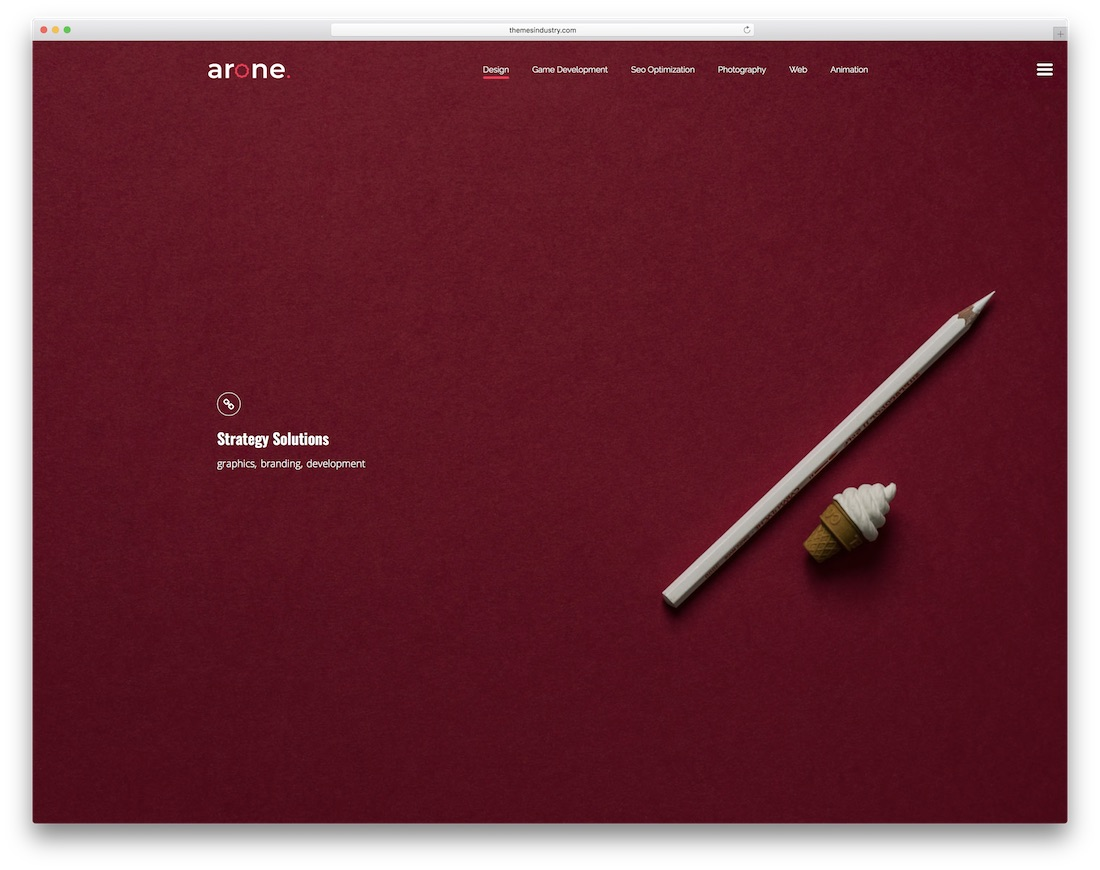arone interactive website template