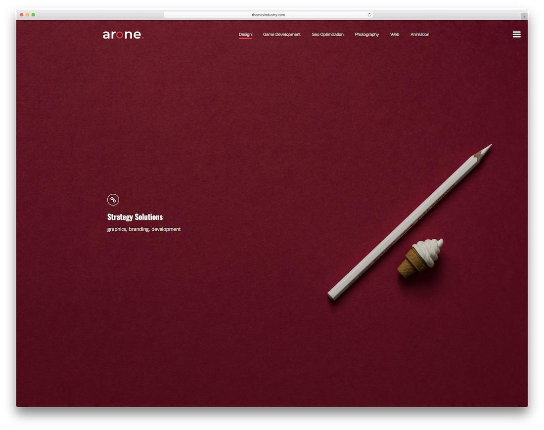 arone interactive website template