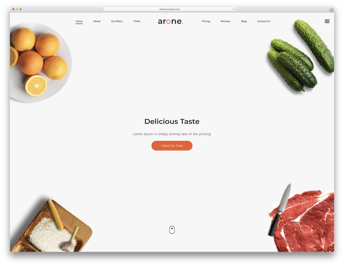 arone parallax website template