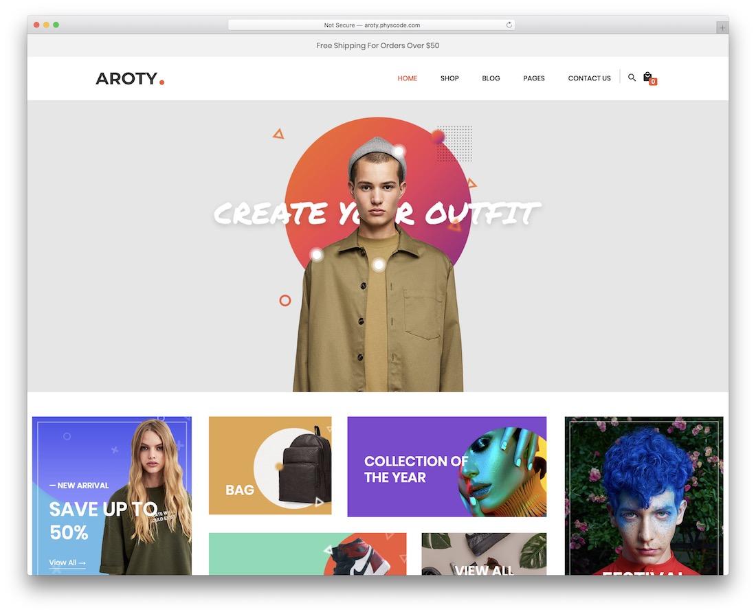 aroty wordpress shop theme