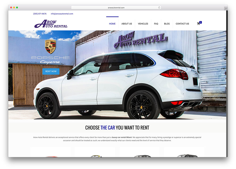 arowautorental-luxuary-car-rental-site-example