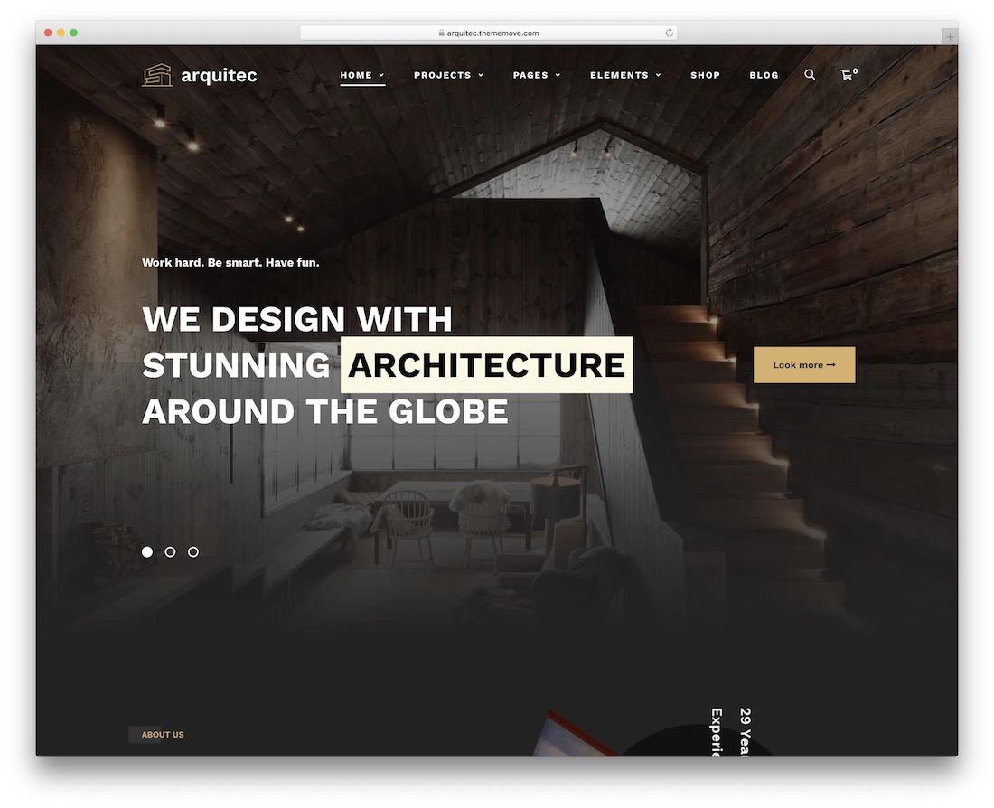 arquitec woodwork wordpress theme