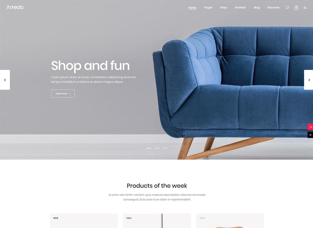 Arredo | Clean Furniture Store WordPress Theme