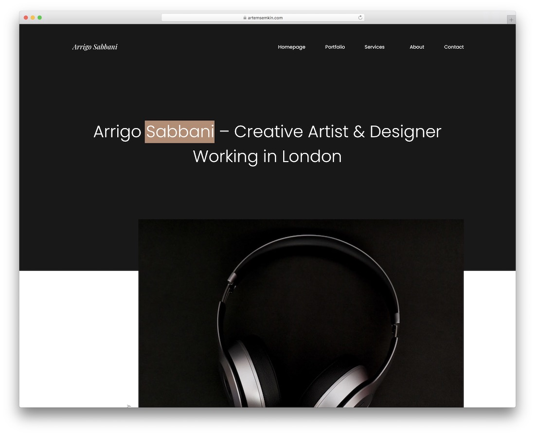 arrigo creative adobe muse template
