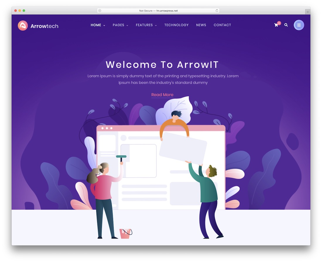 arrowit business website template