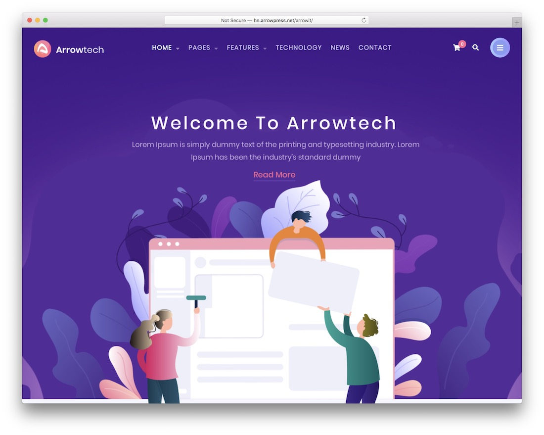 arrowit wordpress theme