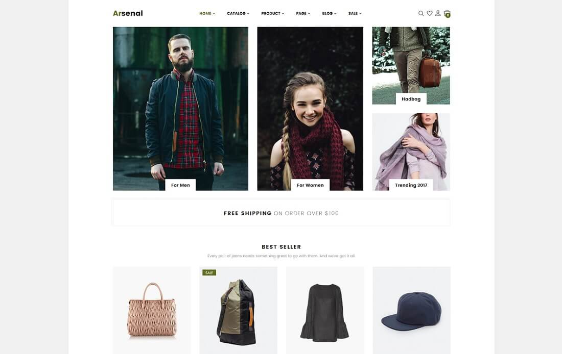 arsenal fashion shopify theme