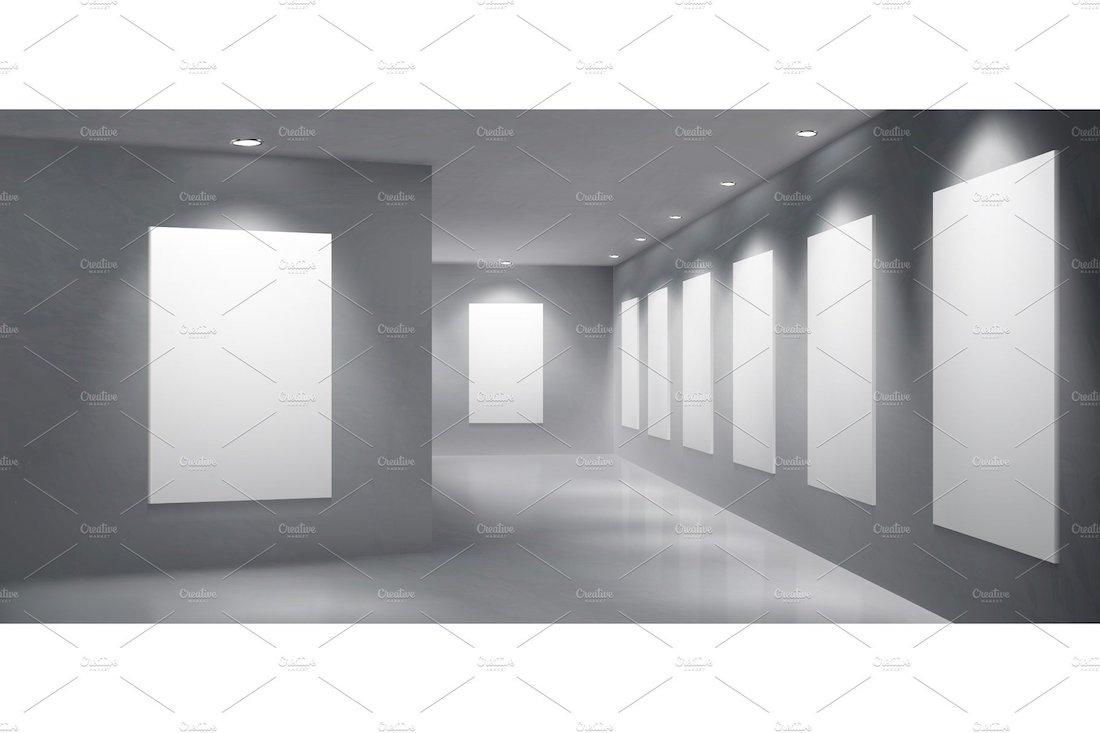 art gallery exhibition empty hall