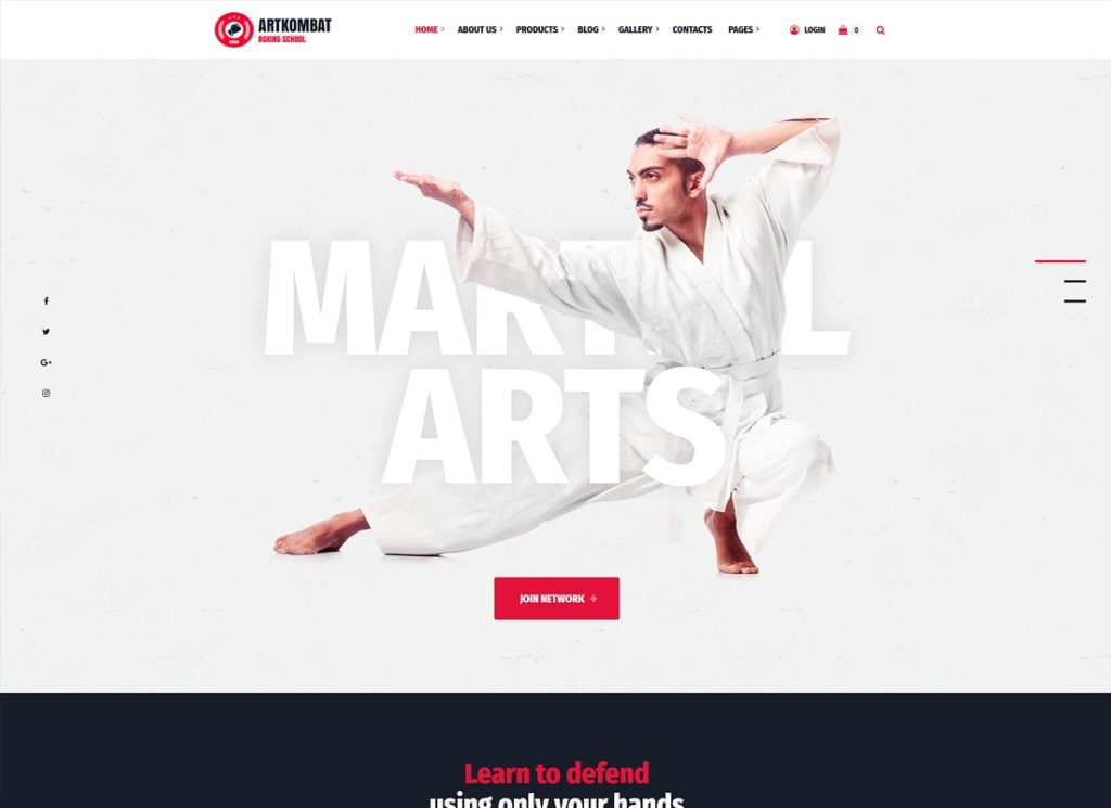 Art Kombat | Boxing School, Martial Arts, Karate, Gym and Fitness WordPress Theme