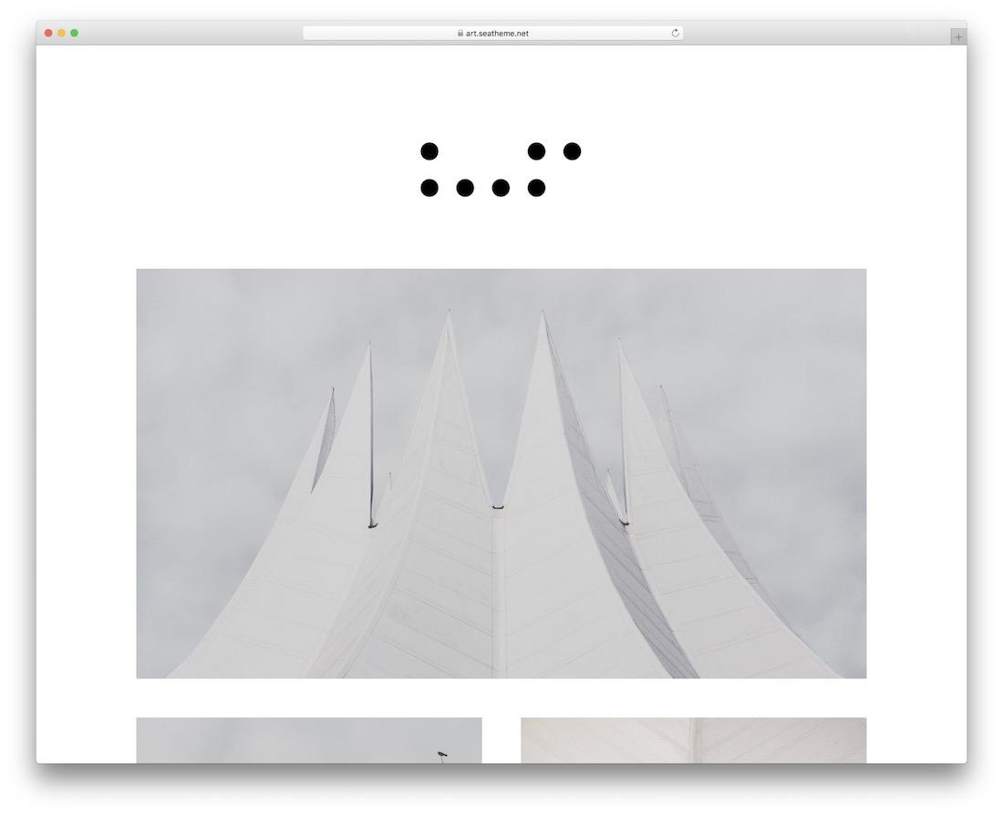 art simple wordpress theme