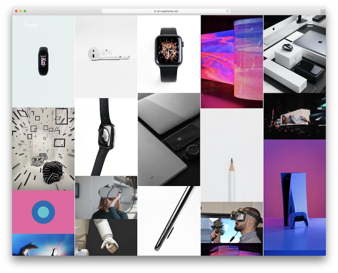 art wordpress gallery theme