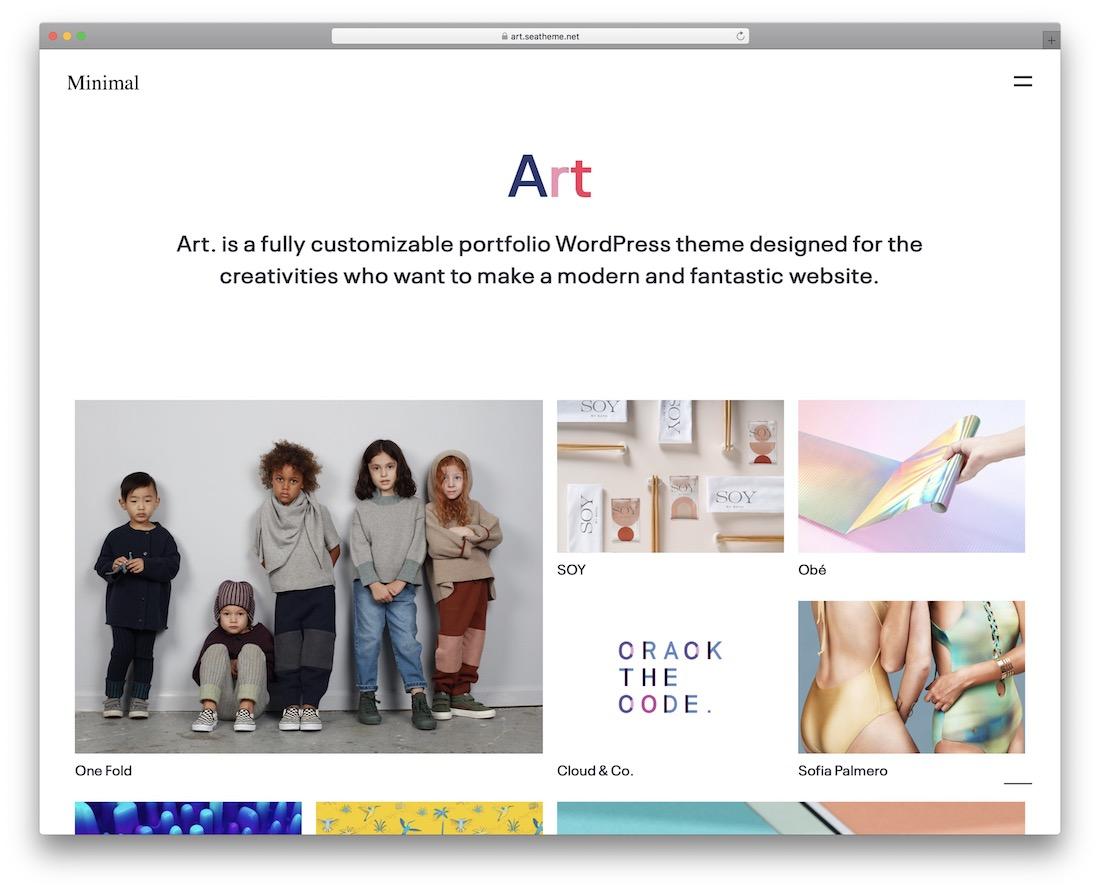 art wordpress theme for artists