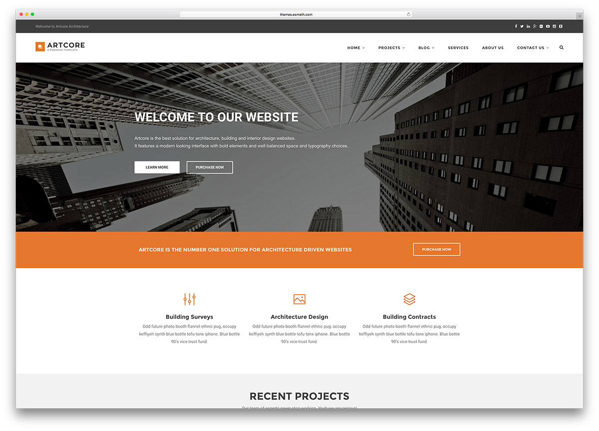 45 best construction company wordpress themes 2018 colorlib for Web page architecture