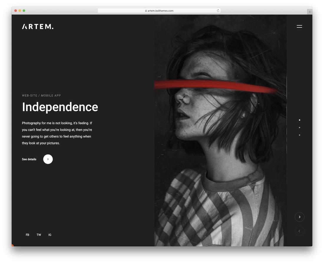 artem simple website template