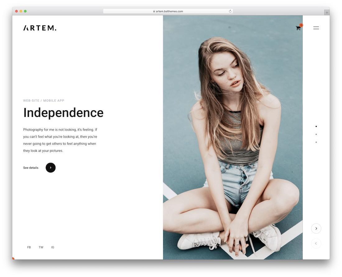 artem simple wordpress theme