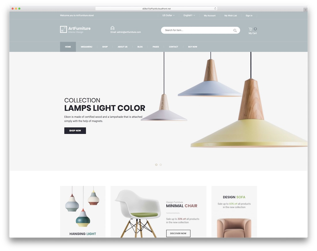 artfurniture ecommerce website template