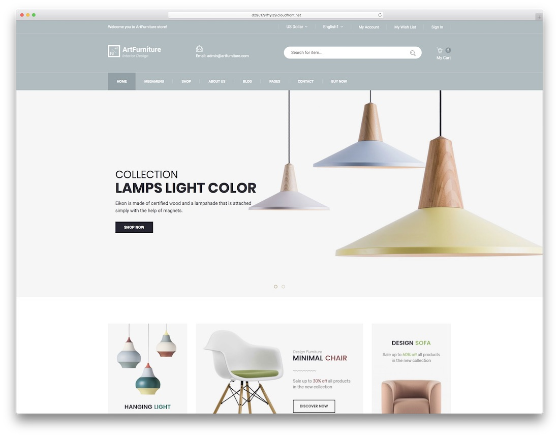 artfurniture fashion website template