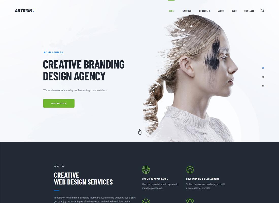 Artrium - Creative Agency & Web Studio WordPress Theme