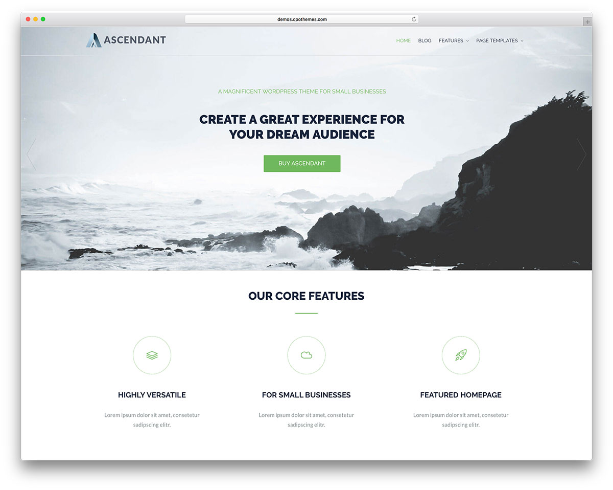 30 free responsive wordpress business themes 2018 colorlib ascendant is a wordpress theme quick and easy to set up for all kinds of users it is adjustable to any screen you can find you will get many shortcodes to accmission Images