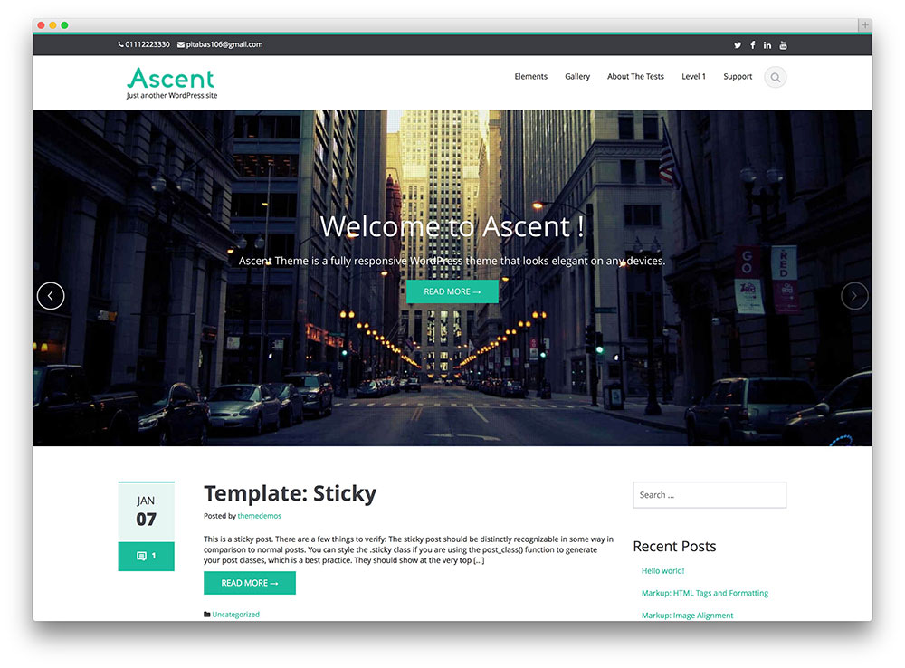 ascent - flat business theme