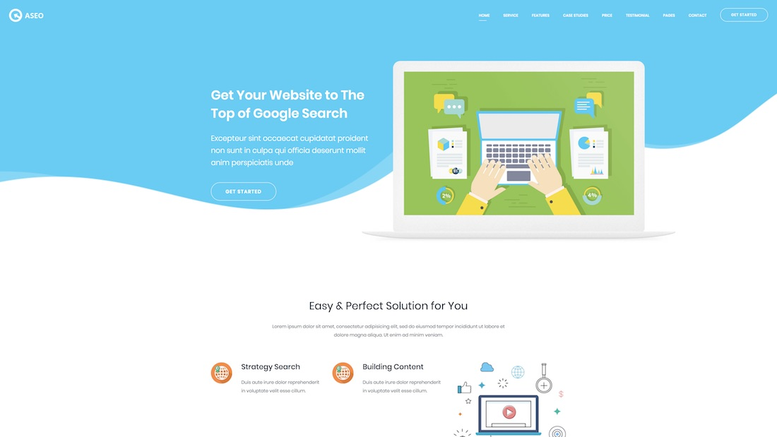 aseo website template