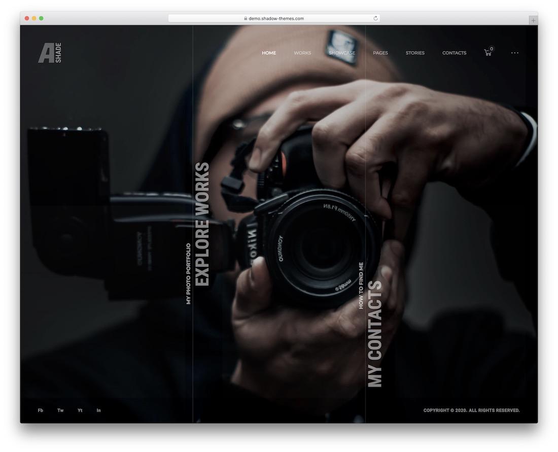 ashade photo sharing wordpress theme