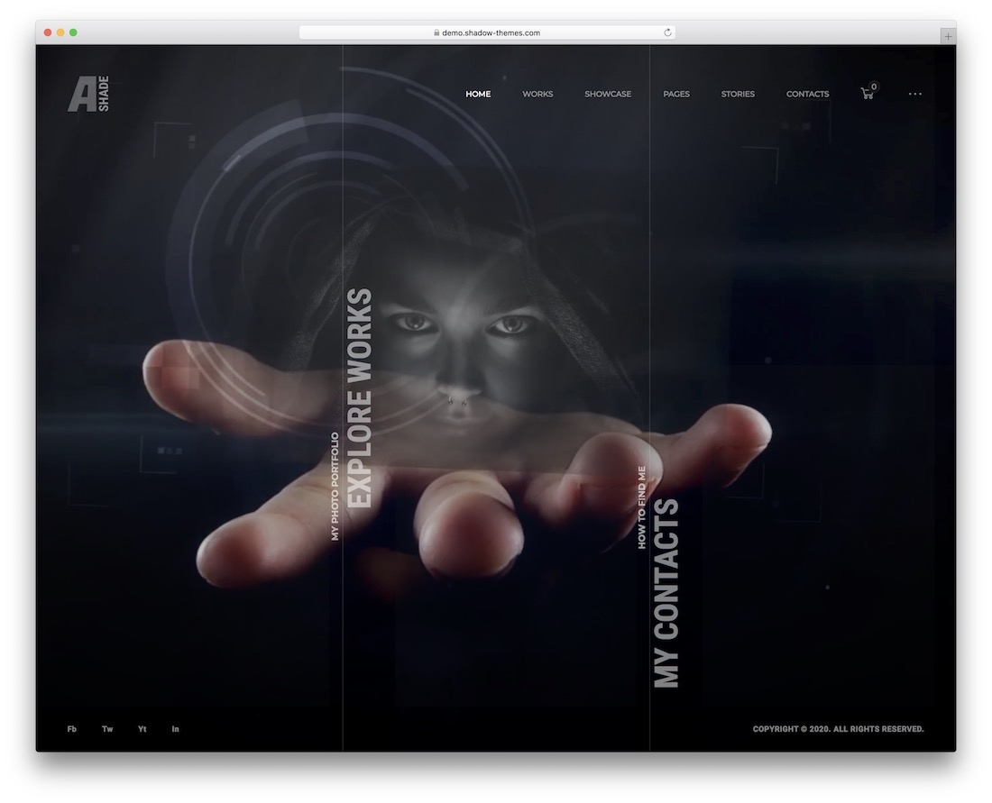 ashade video background wordpress theme