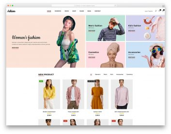 Most Popular Free Fashion Website Templates Colorlib