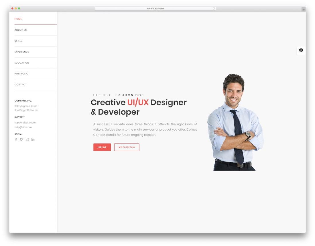 ashton html5 resume template