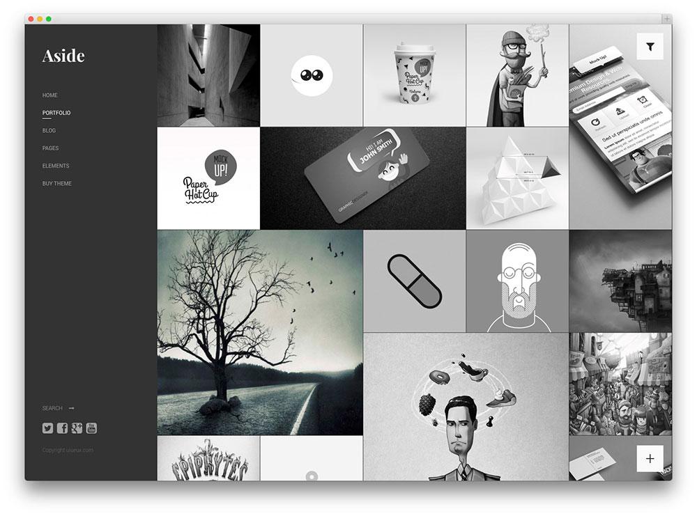 Aside - Masonry portfolio theme