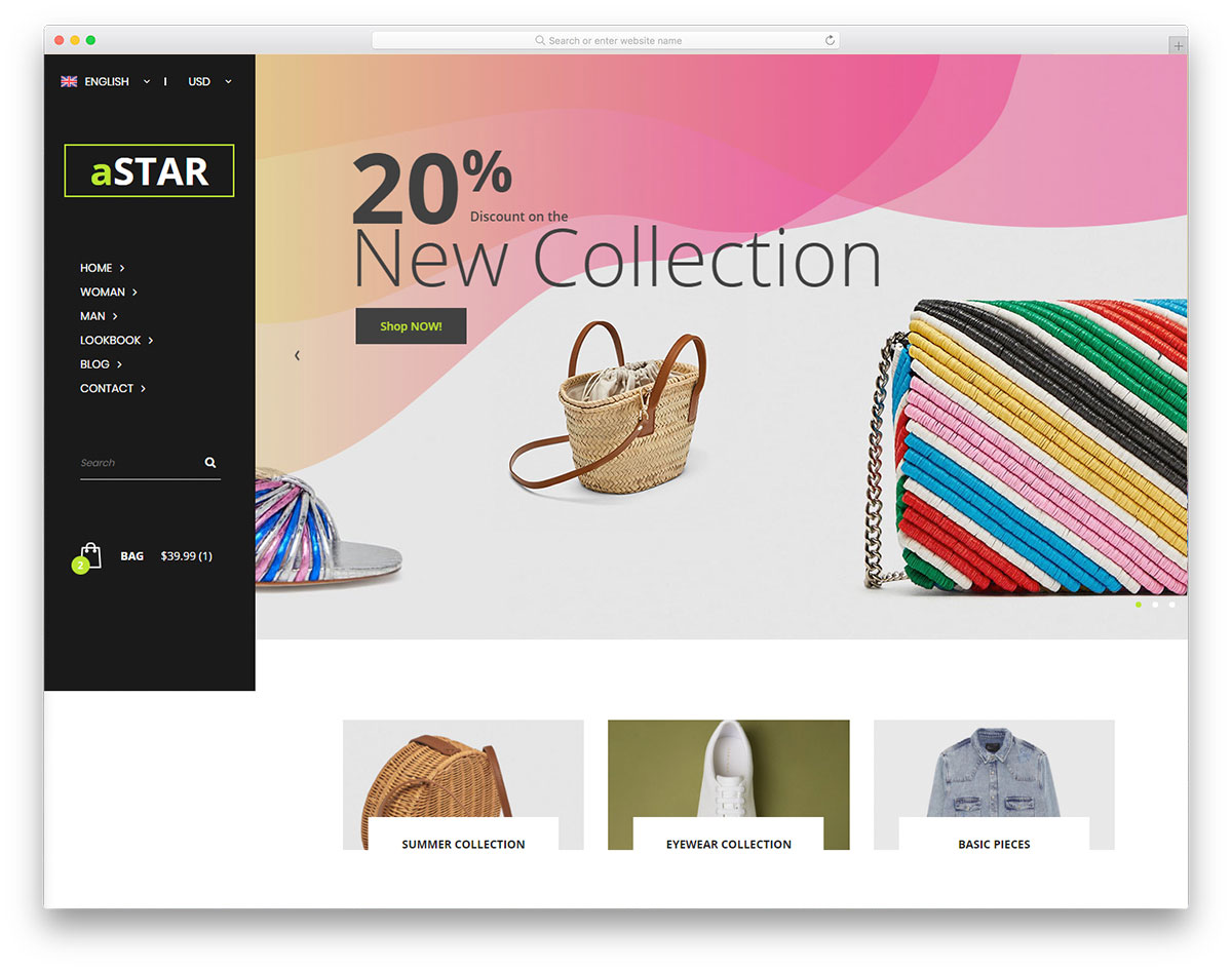 40 Free eCommerce Website Templates 2019 - Colorlib