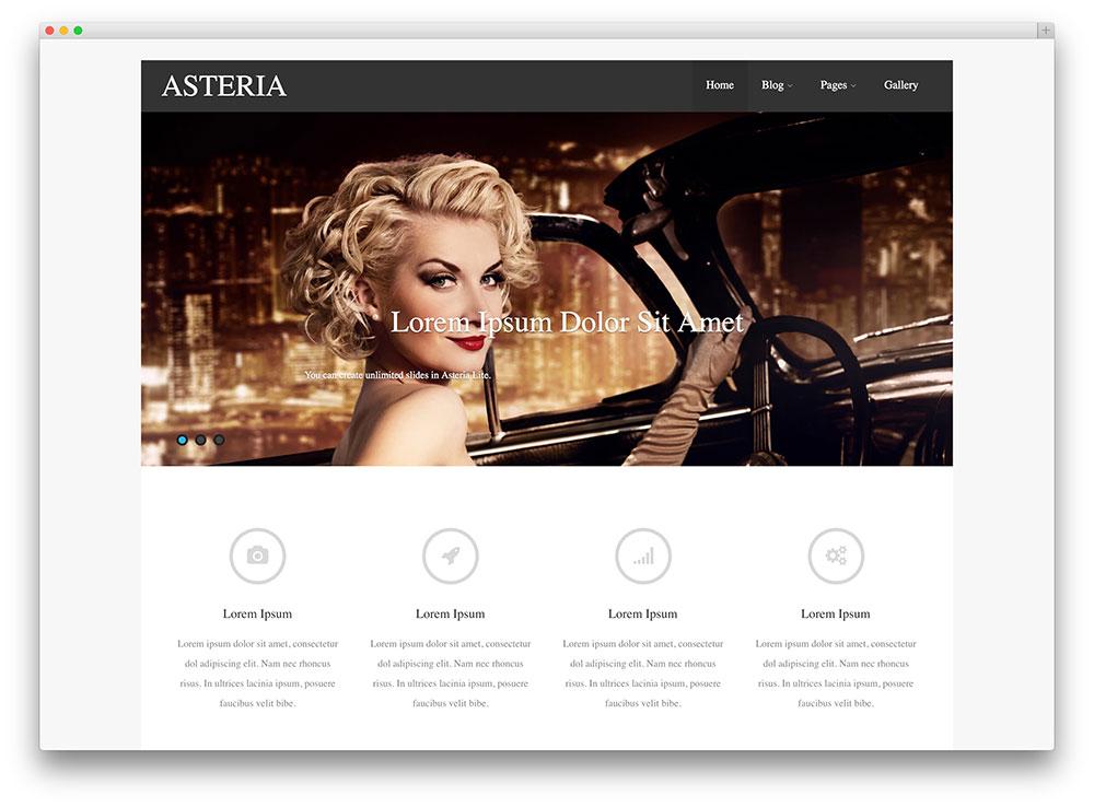 asteria - modern portfolio theme