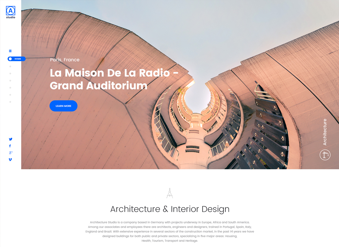 A.Studio | Interior Design and Architecture WordPress Theme