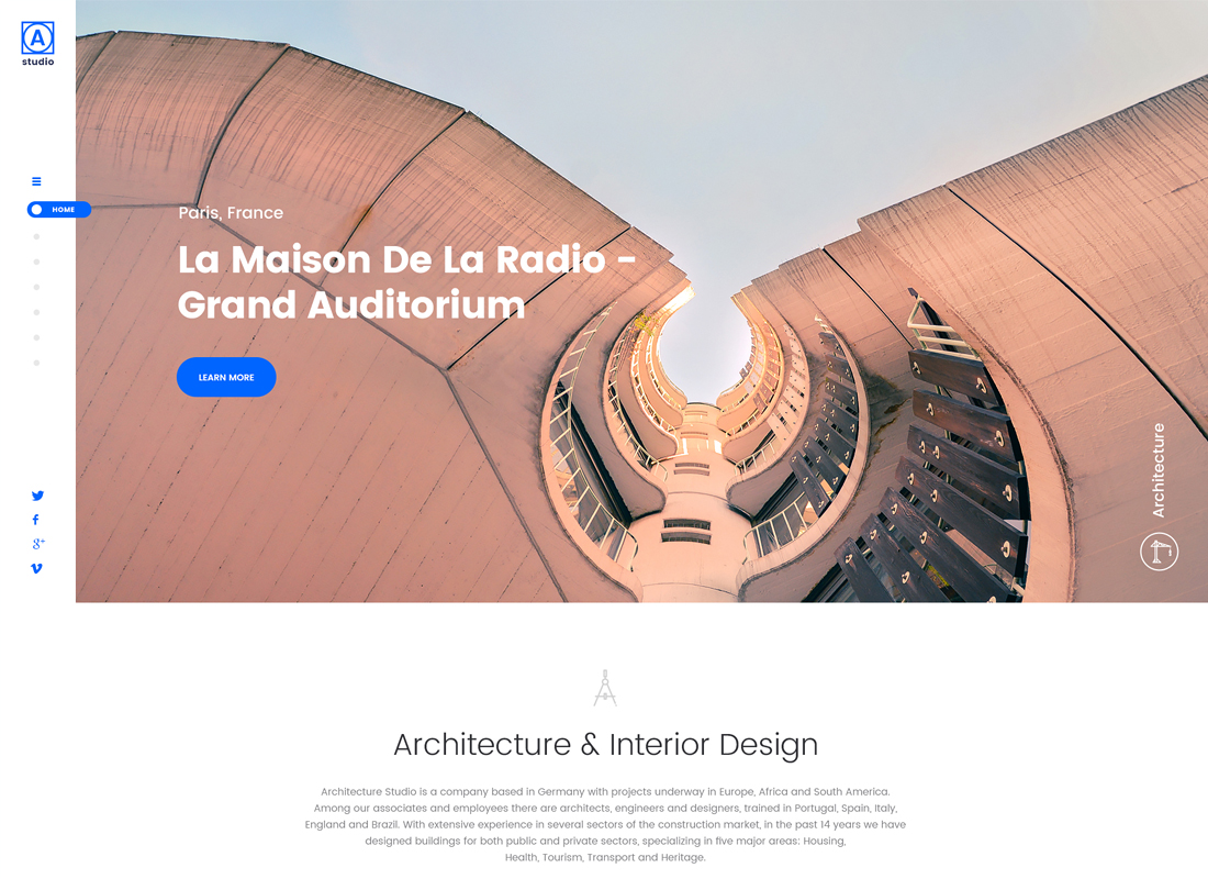 A.Studio - Interior Design and Architecture WordPress Theme