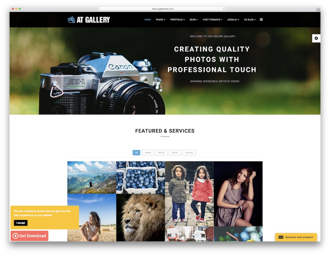 Best Stunning Free Photography Website Templates HTML WordPress - Photo studio website template