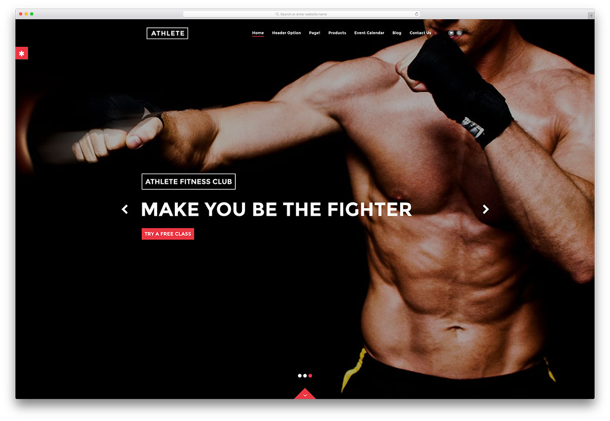 Athlete Fullscreen Fitness Crossfit Template  Fitness Templates Free