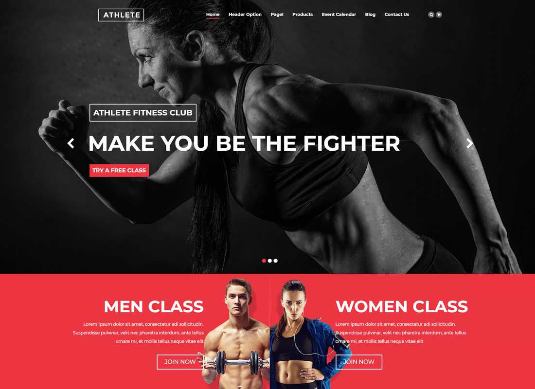 Athlete Fitness | Fitness WordPress Theme