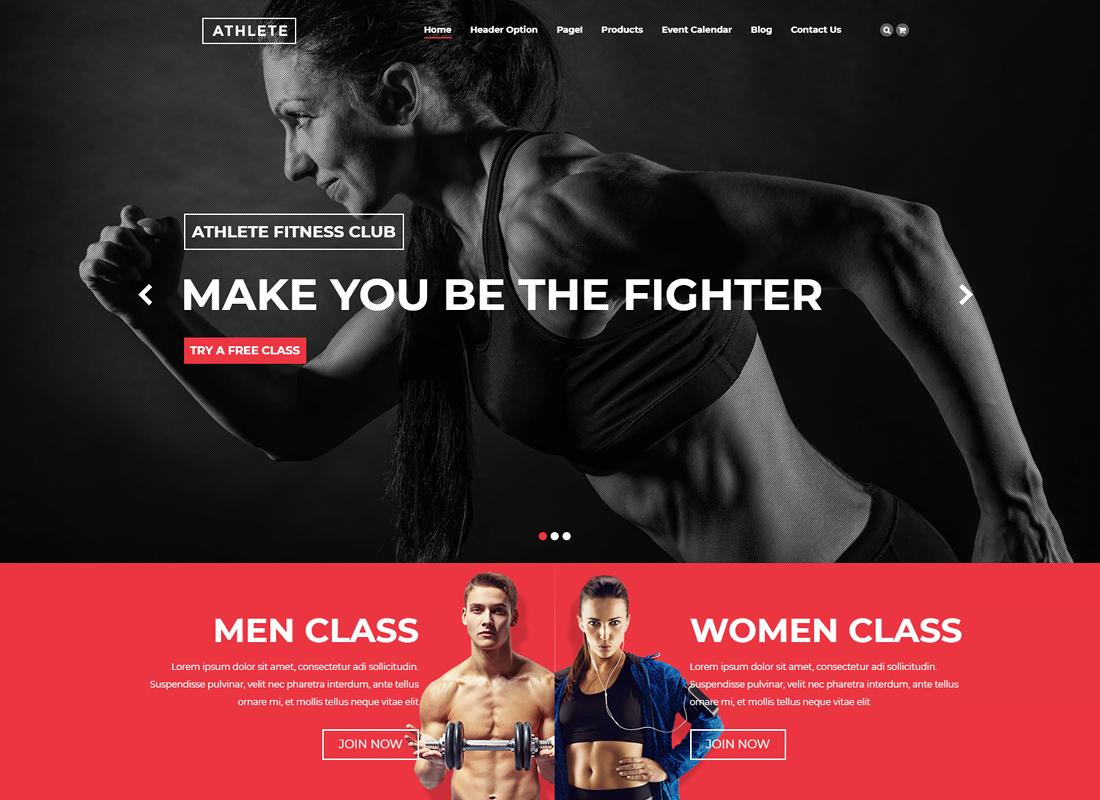 Athlete Fitness | Fitness WordPress Theme