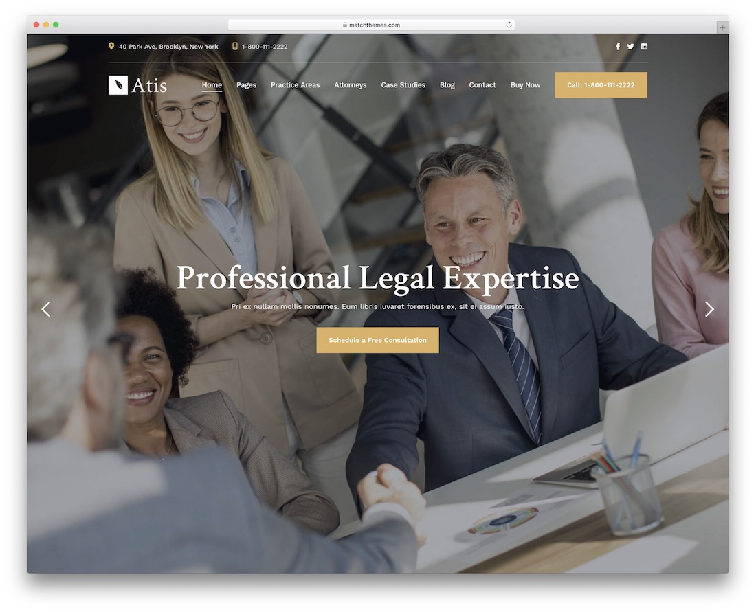 atis law firm wordpress theme